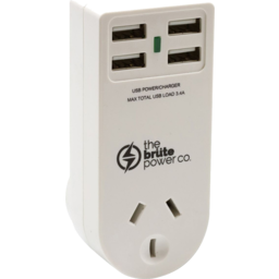 Photo of The Brute Double Adaptor + 4usb