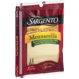 Photo of Sargento Natural Mozzarella Cheese Slices - 11 Ct