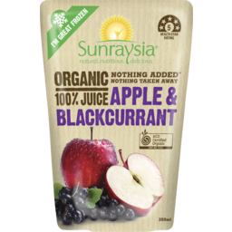 Photo of Sunraysia Organic Apple & Blackcurrant Juice 200ml