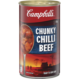 Photo of Campbell's Soup Chunky Chilli Beef 505gm
