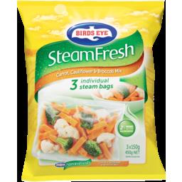 Photo of Birds Eye Steamfresh Carrot Cauliflower & Broccoli Mix 3 Steam Bags 450g 450g