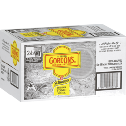Photo of Gordon's Gin & Schweppes Indian Tonic Cans