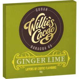 Photo of Willie's Cacao Ginger Lime Chocolate 50gm