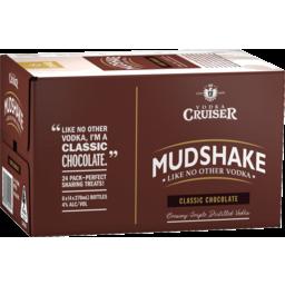Photo of Vodka Cruiser Mudshake Chocolate 270ml 24 Pack