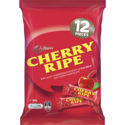 Photo of Cadbury Cherry Ripe Dark Chocolate Sharepack 180g (12 Pack)