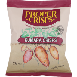Photo of Proper Crisps Kumara Crisps Lightly Salted 35g