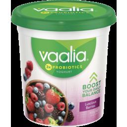 Photo of Vaalia Low Fat Yoghurt Luscious Berries 900g