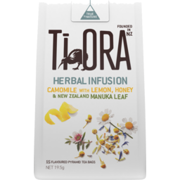 Photo of Ti Ora Camomile Tea with Lemon & Honey With NZ Manuka Leaf 15 Pack