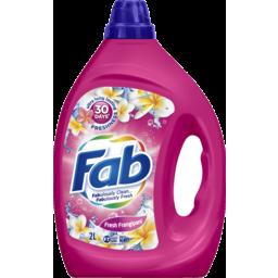 Photo of Fab Fresh Frangipani, Liquid Laundry Washing Detergent, 2 Litres