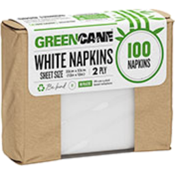 Photo of Gcane White Paper Napkins 100's