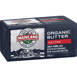 Photo of Mainland Organic Butter Salted 250 G