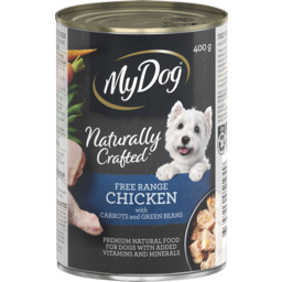 Photo of My Dog Naturally Crafted Wet Dog Food Free Range Chicken With Carrots And Green Beans 400g Can