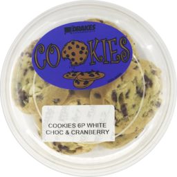 Photo of White Choc & Cranberry Cookies 6 Pack 300g