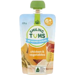Photo of WW Smiling Tums 6+ Months Baby Food Chicken & Vegetables 120g