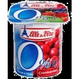 Photo of Elle & Vire 0% Fat Cranberry Yogurt