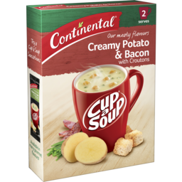 Photo of Continental Cup A Soup Creamy Potato & Bacon With Croutons 2 Pack 50g