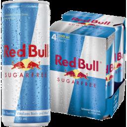 Photo of Red Bull Sugar Free 4x250ml