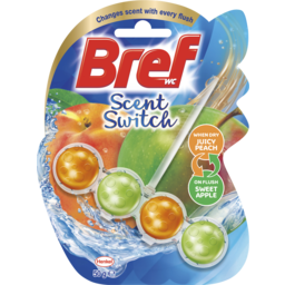 Photo of Bref Scent Switch Juicy Peach/Sweet Apple, Toilet Cleaner, 50g