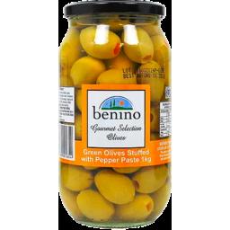 Photo of Benino Green Olives Stuffed W/ Pepper 1kg