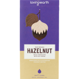 Photo of Loving Earth Hazelnut Chocolate Bar 80g