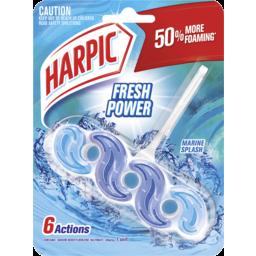 Photo of Harpic Fresh Power Toilet Block Cleaner Marine Splash 1 Unit