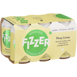Photo of Moon Dog Fizzer Alcoholic Seltzer Piney Limey Can