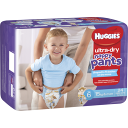 Photo of Huggies Ultra Dry Nappy Pants, Boys, Size 6 Junior (15+Kg), 24 Nappy Pants