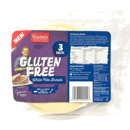 Photo of Giannis Gluten Free Pita Bread 3 Pack