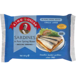 Photo of King Oscar Sardines In Pure Spring Water 105gm