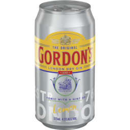 Photo of Gordons Gin&Tnc 4.5% Can 375ml