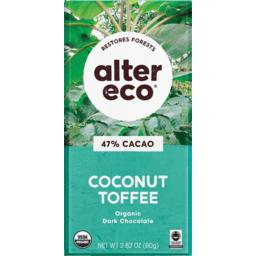 Photo of Alter Eco Chocolate Dark Toffee 80g