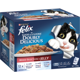 Photo of Purina Felix As Good As It Looks Doubly Delicious Mixed Selection Adult Wet Cat Food 12x85g