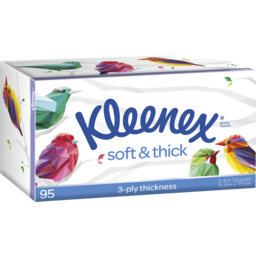Photo of Kleenex Soft & Thick Facial Tissues 95 Pack