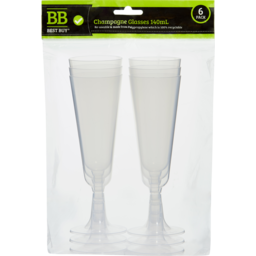 Photo of Best Buy Glass Champagne Recycle 6pk