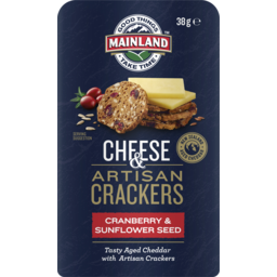 Photo of Mainland On The Go Cranberry & Sunflower Seed Crackers 38gm