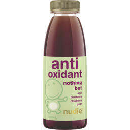 Photo of Nudie Antioxidant Nothing But Acai Blueberry Raspberry Pear 400ml