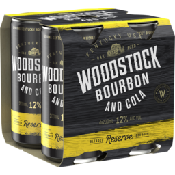 Photo of Woodstock Bourbon & Cola 12% Cans