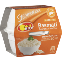 Photo of Sunrice Steamed Basmati Fragrant Rice Quick Cups 240g
