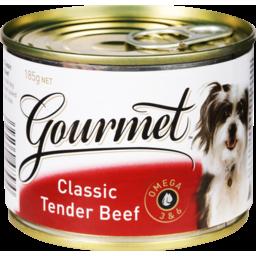 Photo of Gourmet Dog Food Tender Beef 185g
