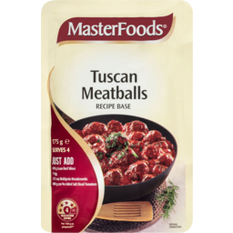 Photo of Masterfoods Recipe Base Tuscan Meatballs 175g