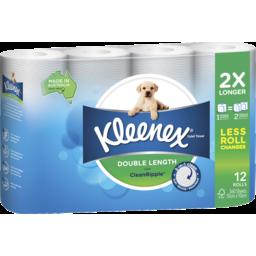Photo of Kleenex Double Length Toilet Tissue 12 Pack