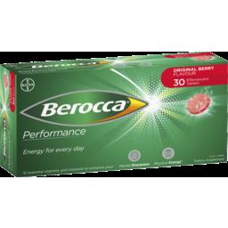 Photo of Berocca Energy Vitamin Original Berry Effervescent Tablets 30 Pack