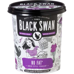 Photo of Black Swan Yogurt Greek No Fat 850gm