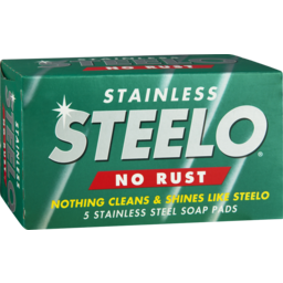 Photo of Steelo Stainless Soap Pads Metalware Polish Cleaner 5 Pack
