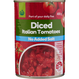 Photo of WW Diced Tomatoes No Added Salt 400g