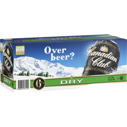 Photo of Canadian Club & Dry Premium Strength Can 375ml 10 Pack