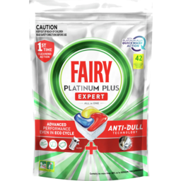 Photo of Fairy Platinum Plus Expert All In One Lemon Dishwasher Capsules 42 Pack