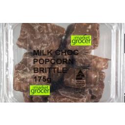 Photo of The Market Grocer Milk Chocolate Popcorn Brittle 175gm