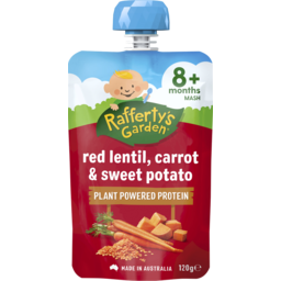 Photo of Raffertys Garden Red Lentil, Carrot & Sweet Potato 120g