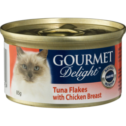 Photo of Gourmet Delight Tuna Flakes With Chicken Breast 85gm